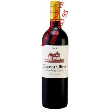 Rượu vang chateau Olivier Grand Cru Classe 2014