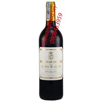 Rượu vang chateau Pichon Longueville Grand Cru Classe 2011