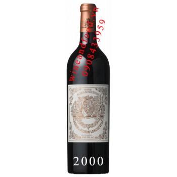 Rượu vang chateau Pichong Longueville 2000