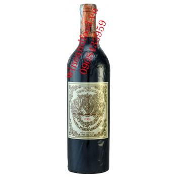 Rượu vang Chateau Pichong Longueville Baron Grand Cru Classe 2016