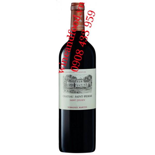 Rượu vang chateau Saint Pierre 4ème Cru Classé 2005