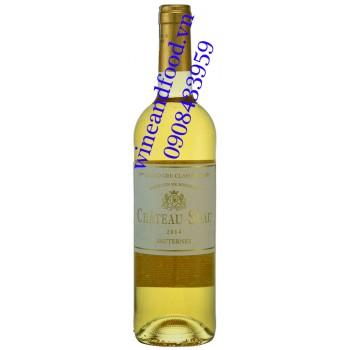 Rượu vang chateau Suau Sauternes Grand Cru Classe 2014