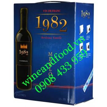 Rượu vang 1982 Merlot hộp 3 Lít