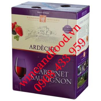 Rượu vang Ardeche Cellier Du Pont d'arc Cabernet Sauvignon 3l