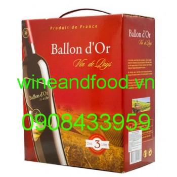 Rượu vang Ballon dor 3l