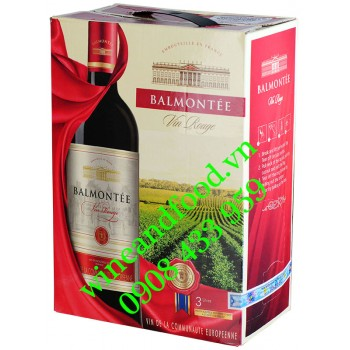 Rượu vang Balmontée Vin Rouge bịch 3 Lít