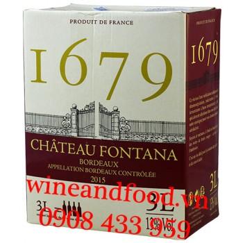 Rượu vang bịch I679 chateau Fontana Bordeaux 3l