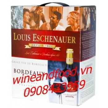 Rượu vang bình Bordeaux Louis Eschenauer 3l