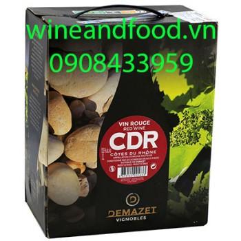Rượu vang bình Demazet CDR 3l