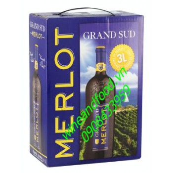 Rượu vang bình Grand Sud Merlot 3l
