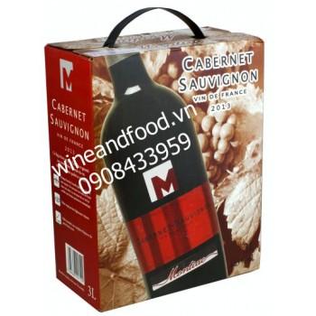 Rượu vang bình Montiac 3l