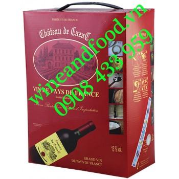 Rượu vang chateau de Cazac bịch 5l