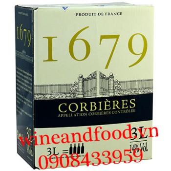 Rượu vang I679 Corbieres bịch 3l