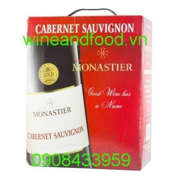 Rượu vang Monastier Cabernet Sauvignon 3l