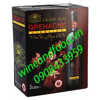 Rượu vang ngọt Grenache Grand Sud 3l