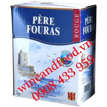 Rượu vang Père Fouras Charentais đỏ bịch 3 Lít