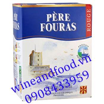 Rượu vang Père Fouras Rouge 5l