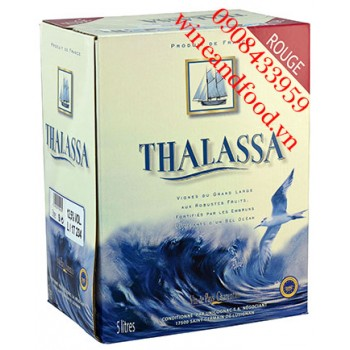 Rượu vang Thalassa đỏ bình 5l