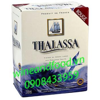 Rượu vang Thalassa Merlot bình 3l