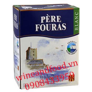 Rượu vang trắng Pere Fouras blanc 5l