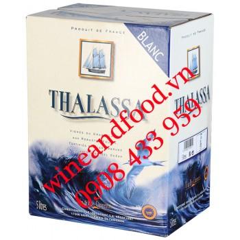 Rượu vang trắng Thalassa Vin The Pays Charentais bịch 5 Lít