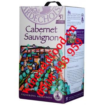 Rượu vang Vignerons Ardechois Cabernet Sauvignon 5l