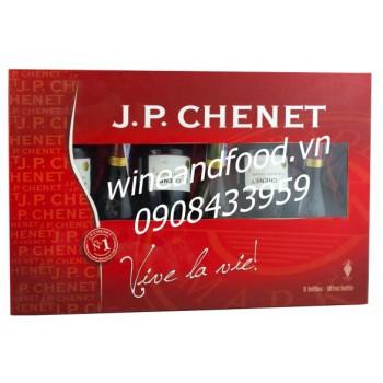 Hộp 6 chai rượu vang J.P Chenet 187ml