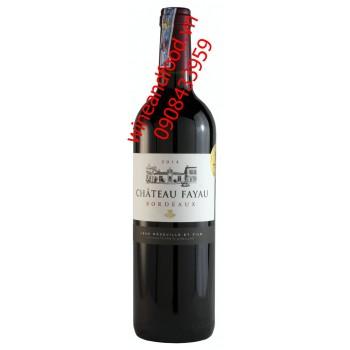 Rượu vang Bordeaux Chateau Fayau 2014