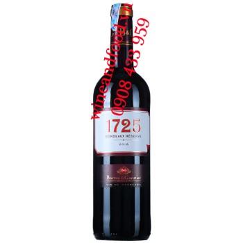 Rượu vang 1725 Bordeaux Réserve Barton & Guestier 750ml