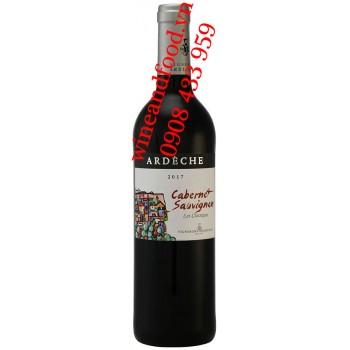 Rượu vang Ardeche Cabernet Sauvignon 750ml