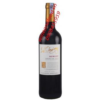 Rượu vang Ardeche Merlot IGP 750ml