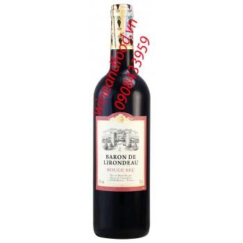 Rượu vang Baron de Lirondeau Rouge Sec