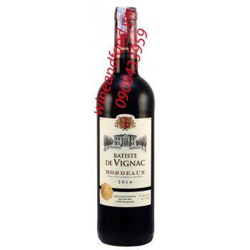 Rượu vang Bordeaux Batiste de Vignac
