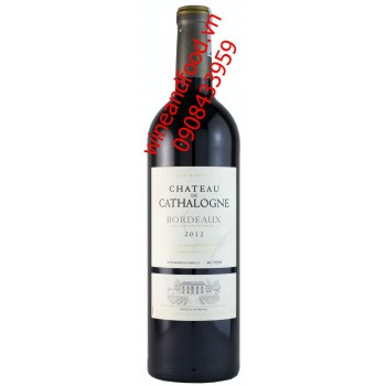 Rượu vang Bordeaux Chateau De Cathalogne 2012