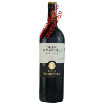 Rượu vang Bordeaux Louis Eschenauer chateau Les Martineaux 2014