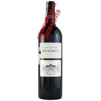 Rượu vang Bordeaux Private Resever 2012