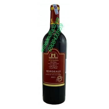 Rượu vang Bordeaux Raymond Huet 2013