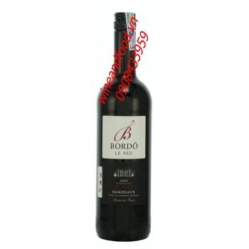Rượu vang Bordo Le Red Merlot 2009