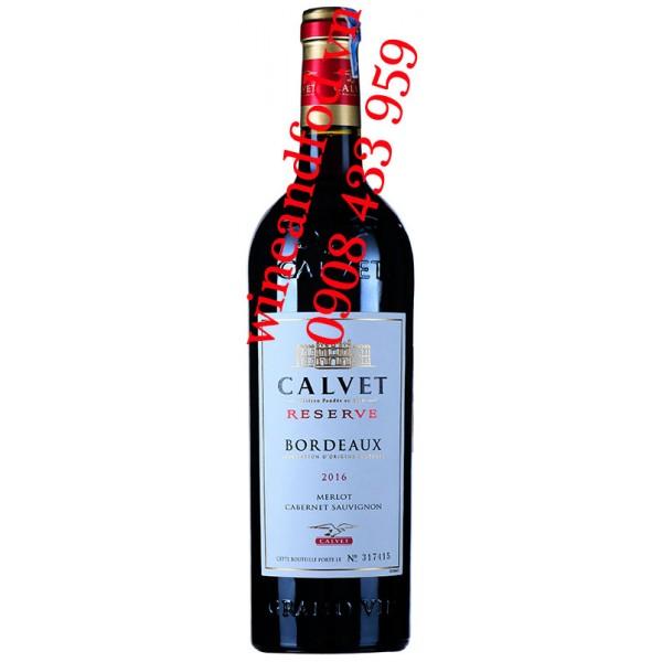 Rượu vang Calvet Reserve Bordeaux Merlot Cabernet Sauvignon