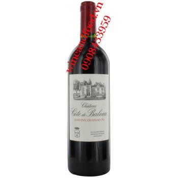 Rượu vang chateau Cote de Baleau 2013