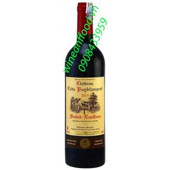 Rượu vang chateau Cote Puyblanquet Saint Emilion 750ml