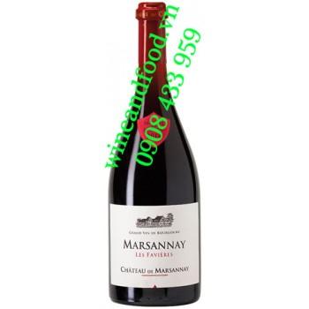 Rượu vang Chateau De Marsannay Favieres 750ml