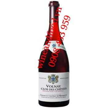 Rượu vang Chateau De Meursault Volnay Clos Des Chenes Premier Cru