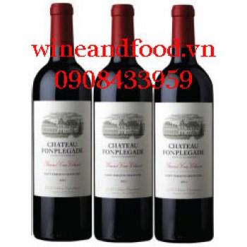 Rượu vang chateau Fonplegade 2015