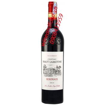Rượu vang Bordeaux chateau haut Lamothe