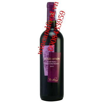 Rượu vang chateau Haut Meyreau Generation 750ml