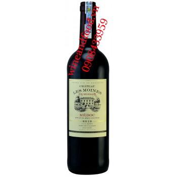 Rượu vang chateau Les Moines Cru Bourgeois Medoc 750ml