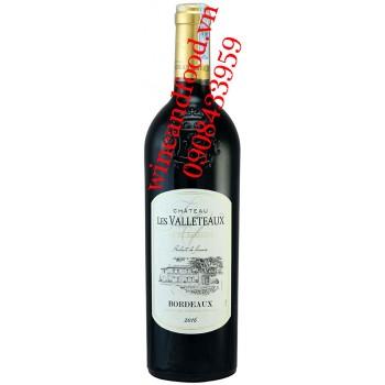 Rượu vang chateau Les Valleteaux Bordeaux 750ml