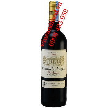 Rượu vang Chateau Les Vergnes Bordeaux 750ml
