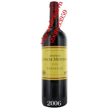 Rượu vang chateau Lynch Moussas 2006
